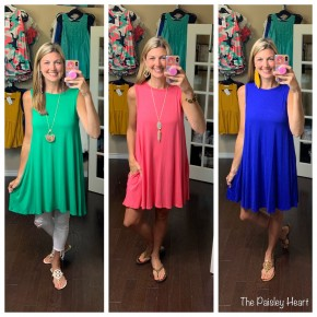 Solid Tunic Dress