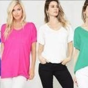 Perfect Pocket Relaxed V Neck Tee *Final Sale*