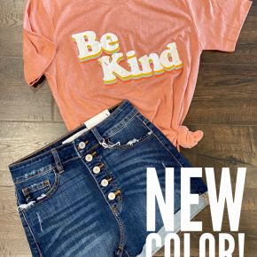 Retro Be Kind Graphic Tee - LMTD//NO MORE RESTOCKS AVAILABLE!!
