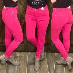 Judy Blue High Waisted  Dark Pink Skinnies