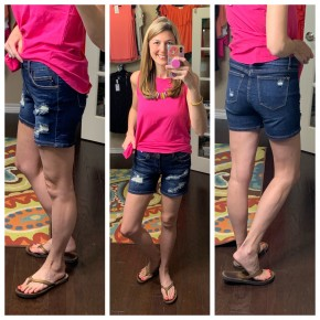 Judy Blue Mid-Rise Distressed Shorts