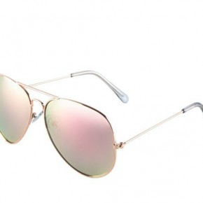 Mirrored Pink Lens Aviator Sunglasses *Final Sale*