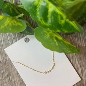 -CZ Curve Necklace