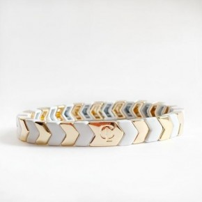 Metallic Tiled Bracelets