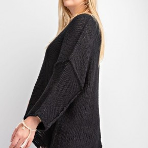 The Chunky Black Curvy Sweater