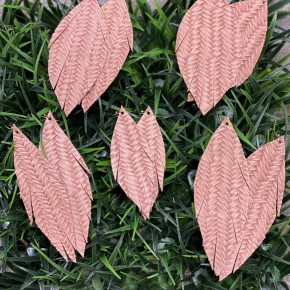Perfectly Pink Herringbone Leather Earrings