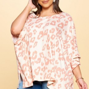 The CURVY Leo Poncho Top