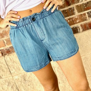 The Hang Loose Shorts-Denim