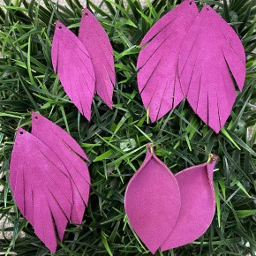 Magenta Suede Leather Earrings