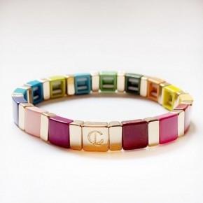 Multicolor Tile Bracelets