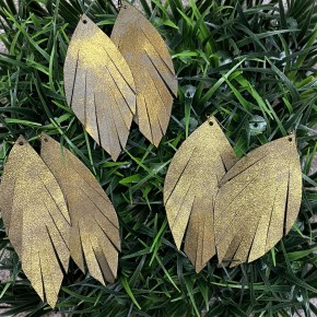 Hammered Bronze Leather Earrings