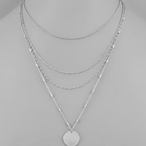 -Layered Disk Necklace