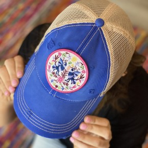 - Birds Of A Feather Patch Hat in Royal Blue