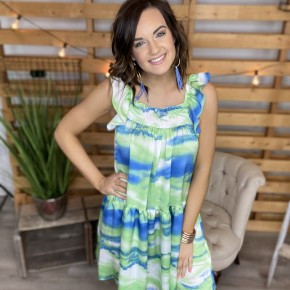 The Green Patio Babydoll Dress