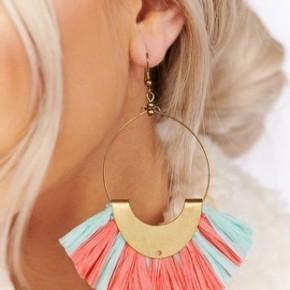 The Raffia Fan Earrings