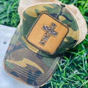 Cross Patch Hat in Camo