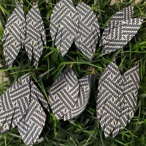 Charcoal Dreams Leather Earrings