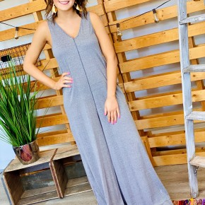 The Wide Leg Jumpsuit in Grey