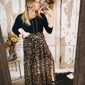 Front Tie Cheetah Skirt