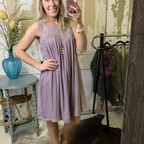Lace Detail Neckline Dress