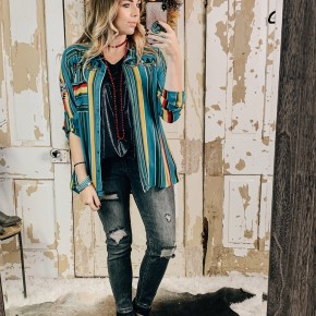 Embroidered Serape Inspired Top