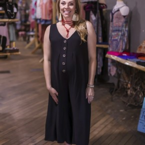 Black Jumpsuit with Buttons