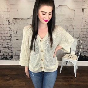 KNIT BUTTON DOWN TOP