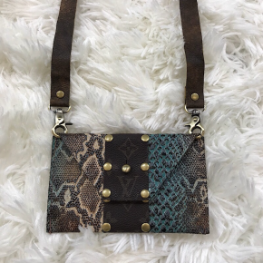 KEEP IT GYPSY UPCYCLED LV BAG -  THE SHEILA CROSSBODY - MULTI