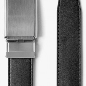 """SLIDEBELTS BRAND"" - RATCHETING DESIGN - CLASSIC BLACK BELT W/ SILVER BUCKLE"