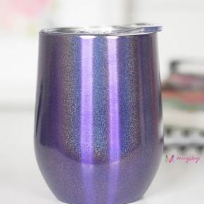 WINE CUP - PURPLE RAINBOW GLITTER
