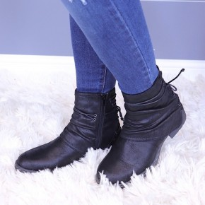 VERY G - LACE UP RUCHED COMBAT BOOT