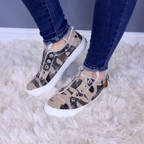 BLOWFISH - NATURAL CAMO UNLACED SLIP-ON SNEAKERS
