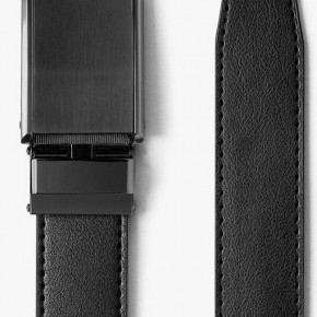 """SLIDEBELTS BRAND"" - RATCHETING DESIGN - CLASSIC BLACK BELT W/ GUNMETAL BUCKLE"