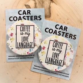 "COASTERS ON THE GO - ""COFFEE IS MY LOVE LANGUAGE"""