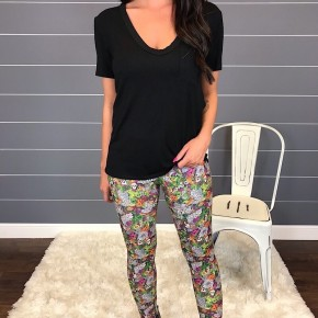 MULTI COLOR HALLOWEEN PRINT LEGGINGS