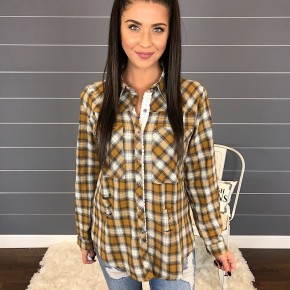 DESTROYED WOVEN PLAID BUTTON DOWN SHIRT