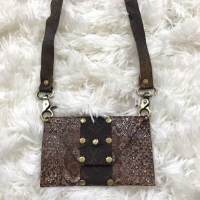 KEEP IT GYPSY UPCYCLED LV BAG -  THE SHEILA CROSSBODY - BROWN