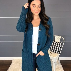 SOFT MAXI BUTTON DOWN HOODIE CARDIGAN