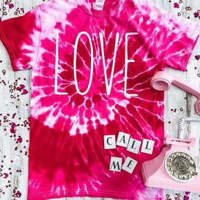 """LOVE"" SWIRL TIE DYE GRAPHIC TEE"