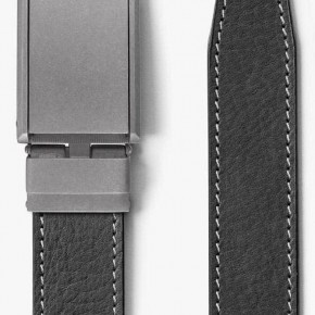 """SLIDEBELTS BRAND"" (THE ORIGINAL) - ASH CONTRAST STITCHED BELT W/ ZINC BUCKLE"