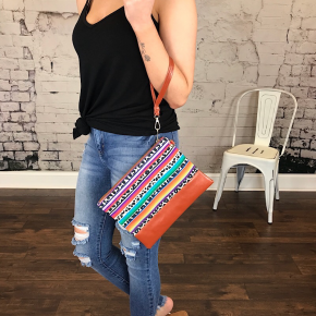SERAPE PERFORMANCE POLY CANVAS CLUTCH