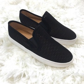 WOMENS PERFORATED LASER CUT SLIP ON SNEAKER