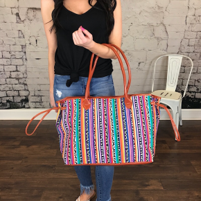 SERAPE PERFORMANCE POLY CANVAS TOTE