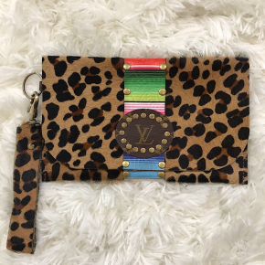 KEEP IT GYPSY UPCYCLED LV BAG -  THE MENA CLUTCH - SERAPE