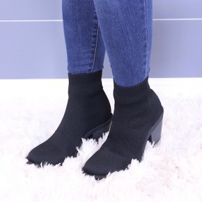 BLOWFISH - BLACK KNITTED BOOT