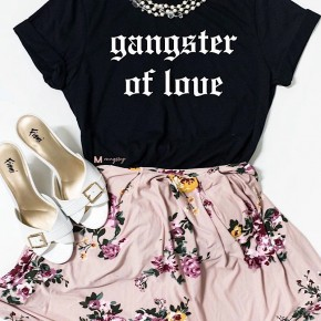 """GANGSTER OF LOVE"" FUNNY VALENTINE'S GAPHIC TEE"