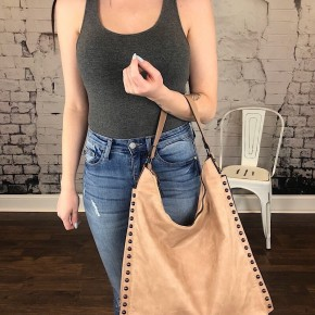 STUDDED HOBO BAG