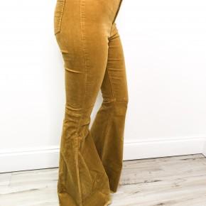 Mustard Flare Corduroy Pants