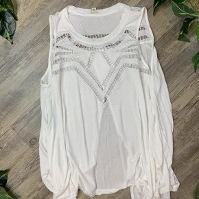 Cutout Detailed Sleeveless Top with Open Back
