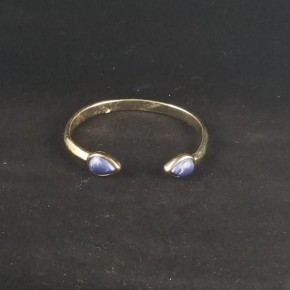 Gold with Stone bangle